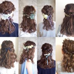 ショート 簡単ヘアアレンジ 花嫁 ゆるふわ ヘアスタイルや髪型の写真・画像