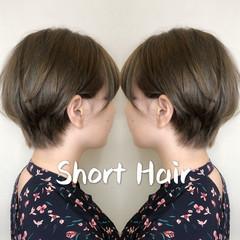 ハンサム ガーリー 小顔ショート ショートヘア ヘアスタイルや髪型の写真・画像