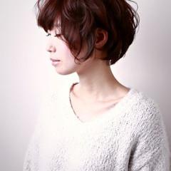 透明感 ヘアアレンジ ナチュラル ショート ヘアスタイルや髪型の写真・画像