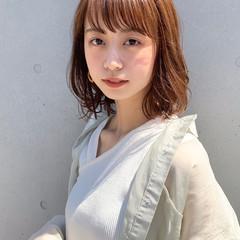 ミディアムレイヤー 鎖骨ミディアム 大人ミディアム ひし形シルエット ヘアスタイルや髪型の写真・画像