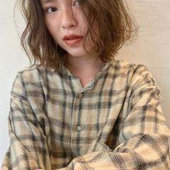モード アンニュイほつれヘア ボブ パーマ ヘアスタイルや髪型の写真・画像