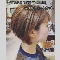ベリーショート ミニボブ 切りっぱなしボブ ショートヘア ヘアスタイルや髪型の写真・画像