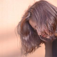 ラベンダーアッシュ ナチュラル ボブ 暗髪 ヘアスタイルや髪型の写真・画像