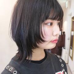 ミディアム ウルフレイヤー ウルフ ウルフカット ヘアスタイルや髪型の写真・画像