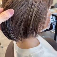 ナチュラル 透明感カラー ショートボブ ミニボブ ヘアスタイルや髪型の写真・画像