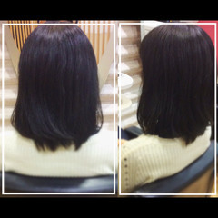 ミディアム 艶髪 社会人の味方 ナチュラル ヘアスタイルや髪型の写真・画像