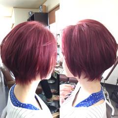 外国人風 モード ボブ ダブルカラー ヘアスタイルや髪型の写真・画像