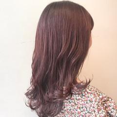 ピンクラベンダー ピンクベージュ ピンクアッシュ フェミニン ヘアスタイルや髪型の写真・画像