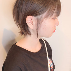 ショート ショートヘア 黒髪ショート ウルフカット ヘアスタイルや髪型の写真・画像