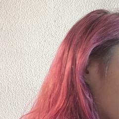 ストリート 外国人風 ダブルカラー セミロング ヘアスタイルや髪型の写真・画像