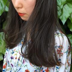 外国人風 リラックス グレージュ セミロング ヘアスタイルや髪型の写真・画像