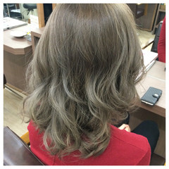 ミディアム ハイトーン 外国人風カラー 外国人風 ヘアスタイルや髪型の写真・画像