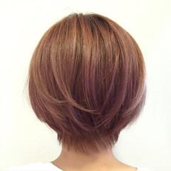ピンク ストリート ショート ショートボブ ヘアスタイルや髪型の写真・画像