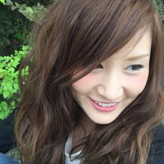 外国人風 セミロング ハイライト 大人かわいい ヘアスタイルや髪型の写真・画像