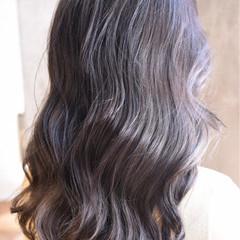 ダブルカラー セミロング グラデーションカラー ガーリー ヘアスタイルや髪型の写真・画像