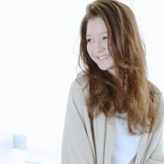 大人かわいい セミロング 外国人風 ストリート ヘアスタイルや髪型の写真・画像