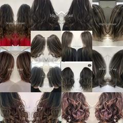 ナチュラル グラデーションカラー イルミナカラー ダークグレー ヘアスタイルや髪型の写真・画像