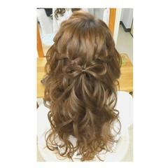 ヘアアレンジ ロング ウォーターフォール ゆるふわ ヘアスタイルや髪型の写真・画像