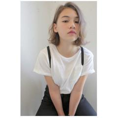 アッシュ 抜け感 パーマ ガーリー ヘアスタイルや髪型の写真・画像