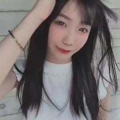ロング 韓国ヘア ナチュラル オルチャン ヘアスタイルや髪型の写真・画像