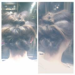 モテ髪 アップスタイル ミディアム ゆるふわ ヘアスタイルや髪型の写真・画像