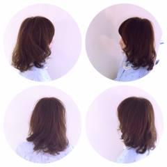 ミディアム モテ髪 ナチュラル 愛され ヘアスタイルや髪型の写真・画像