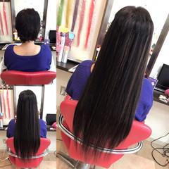 ストレート 大人女子 エクステ ロング ヘアスタイルや髪型の写真・画像