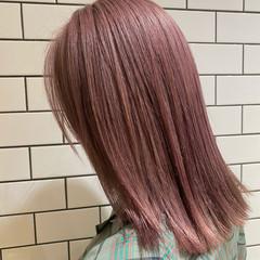 ハイトーンカラー ストリート ピンクベージュ ピンクパープル ヘアスタイルや髪型の写真・画像
