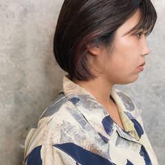 ナチュラル ミニボブ ショートヘア マッシュショート ヘアスタイルや髪型の写真・画像