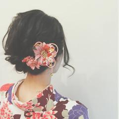 簡単ヘアアレンジ ゆるふわ 謝恩会 ショート ヘアスタイルや髪型の写真・画像