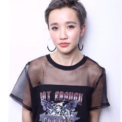 ハイトーン 外国人風 アッシュ 大人女子 ヘアスタイルや髪型の写真・画像