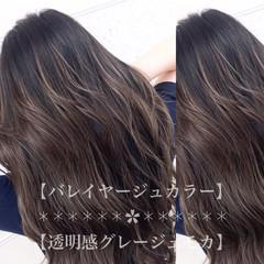 セミロング イルミナカラー バレイヤージュ 外国人風カラー ヘアスタイルや髪型の写真・画像
