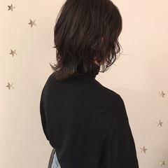 ウルフカット 暗髪 ナチュラル パーマ ヘアスタイルや髪型の写真・画像