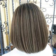 ハイライト ナチュラルグラデーション コントラストハイライト セミロング ヘアスタイルや髪型の写真・画像