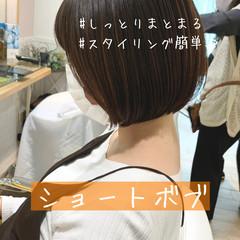 ベリーショート ショートボブ ショートヘア 切りっぱなしボブ ヘアスタイルや髪型の写真・画像