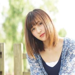 縮毛矯正 春 ストレート 夏 ヘアスタイルや髪型の写真・画像