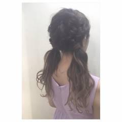 ツインテール モテ髪 ウェットヘア 愛され ヘアスタイルや髪型の写真・画像