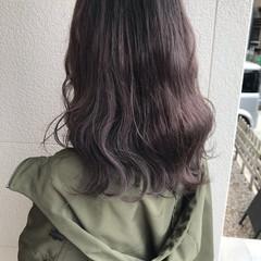 フェミニン ハイライト アディクシーカラー ミディアム ヘアスタイルや髪型の写真・画像