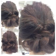 ゆるふわ フェミニン ヘアアレンジ セミロング ヘアスタイルや髪型の写真・画像