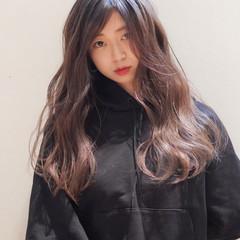 ロング ハイライト 3Dハイライト コントラストハイライト ヘアスタイルや髪型の写真・画像
