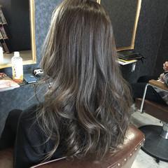 ストリート ラベンダーアッシュ グレー ブルージュ ヘアスタイルや髪型の写真・画像