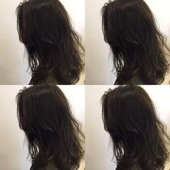 外国人風 暗髪 アッシュグレー ストリート ヘアスタイルや髪型の写真・画像