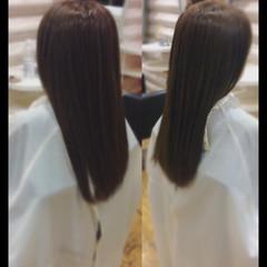 艶髪 髪質改善カラー ナチュラル 髪質改善トリートメント ヘアスタイルや髪型の写真・画像
