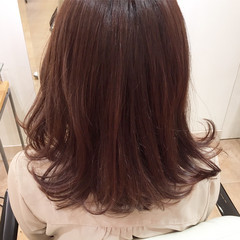 エレガント デート ラベンダーピンク イルミナカラー ヘアスタイルや髪型の写真・画像