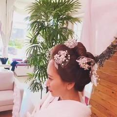 着物 花嫁 和服 結婚式 ヘアスタイルや髪型の写真・画像
