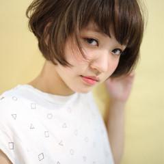 暗髪 ショート アッシュ ストリート ヘアスタイルや髪型の写真・画像