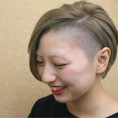 モード ハイトーン 大人女子 坊主 ヘアスタイルや髪型の写真・画像