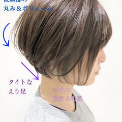 ショートヘア ハンサムショート インナーカラー ショートボブ ヘアスタイルや髪型の写真・画像
