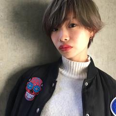 黒髪 モード ショート 冬 ヘアスタイルや髪型の写真・画像
