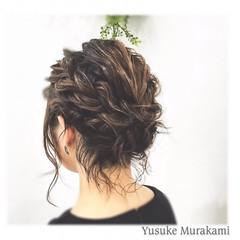 簡単ヘアアレンジ フェミニン ヘアアレンジ 黒髪 ヘアスタイルや髪型の写真・画像